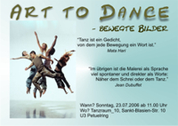 Einladung zur Tanzperformance ART to dance